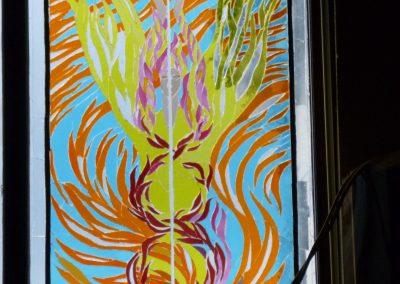 ANGEL OF FIRE. WINDOW FOR SCHOOL HALL 1998