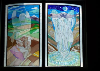 ANGELS OF EARTH AND WATER. WINDOWS FOR SCHOOL HALL 1998