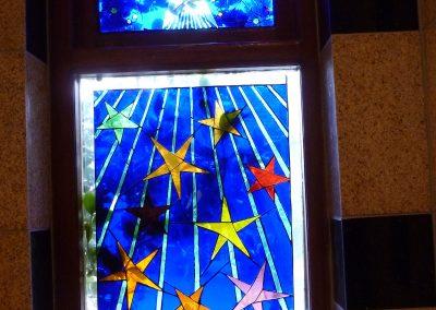 STAR MOSAIC WINDOW. 1998