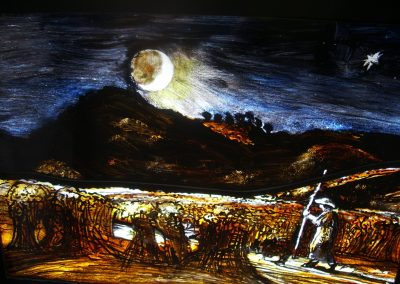 Shepherd by Moonlight (after S. Palmer) 2011 50x35mm