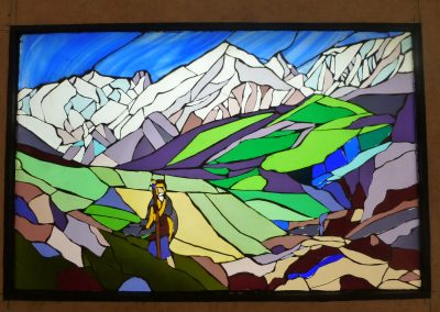THE TRAVELLERS' FRIEND. (AFTER N. ROERICH) LED-BACKLIT PANEL 2014
