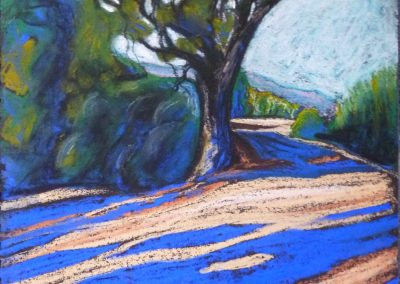 THE TREE AT THE BEND IN THE ROAD 2014 50 X 40CM