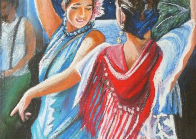 TWO DANCERS 2016 50 X 40CM