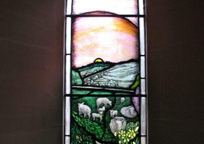 EDGE CHURCH, GLOS. NEW MILLENNIUM WINDOW 1999 1M X 350CM