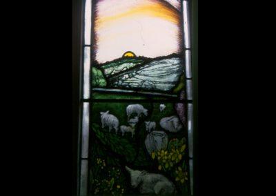 EDGE CHURCH,GLOS. DETAIL OF NEW MILLENNIUM WINDOW 1999