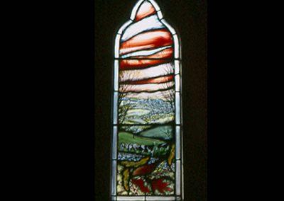 EDGE CHURCH,GLOS. OLD MILLENNIUM WINDOW 1999 1M X 350CM